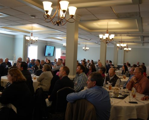 Huge crowd seated at the Onward NRV Spring luncheon