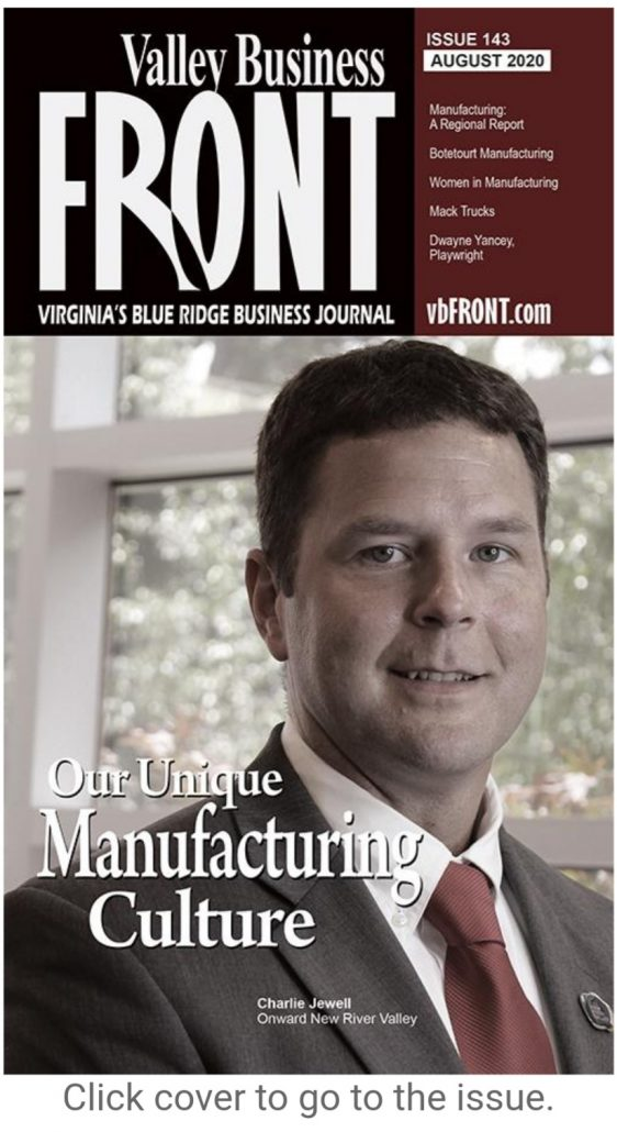 Onward NRV Featured in Valley Business Front Article