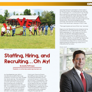 Onward NRV Talent Initiatives Featured in Valley Business Front