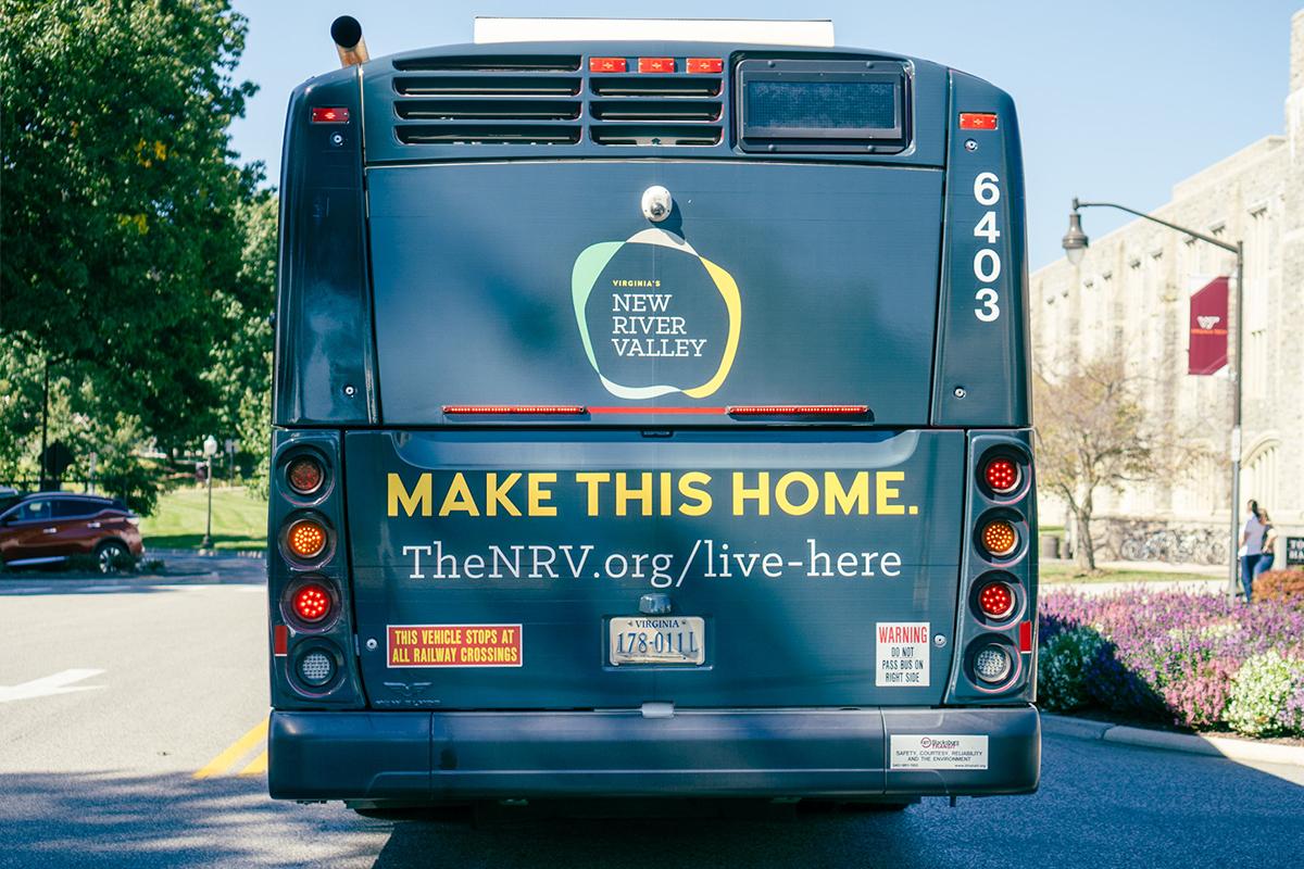 Blacksburg Transit NRV Bus Wrap Back